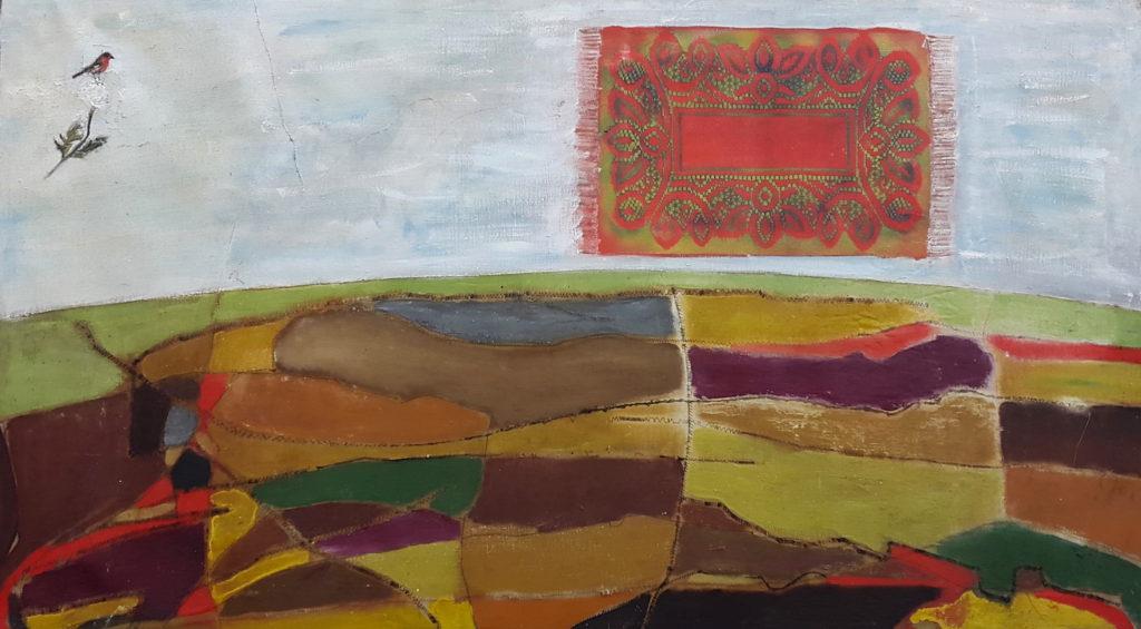 E. Mitrovich, Little bird vs flying carpet , 2013